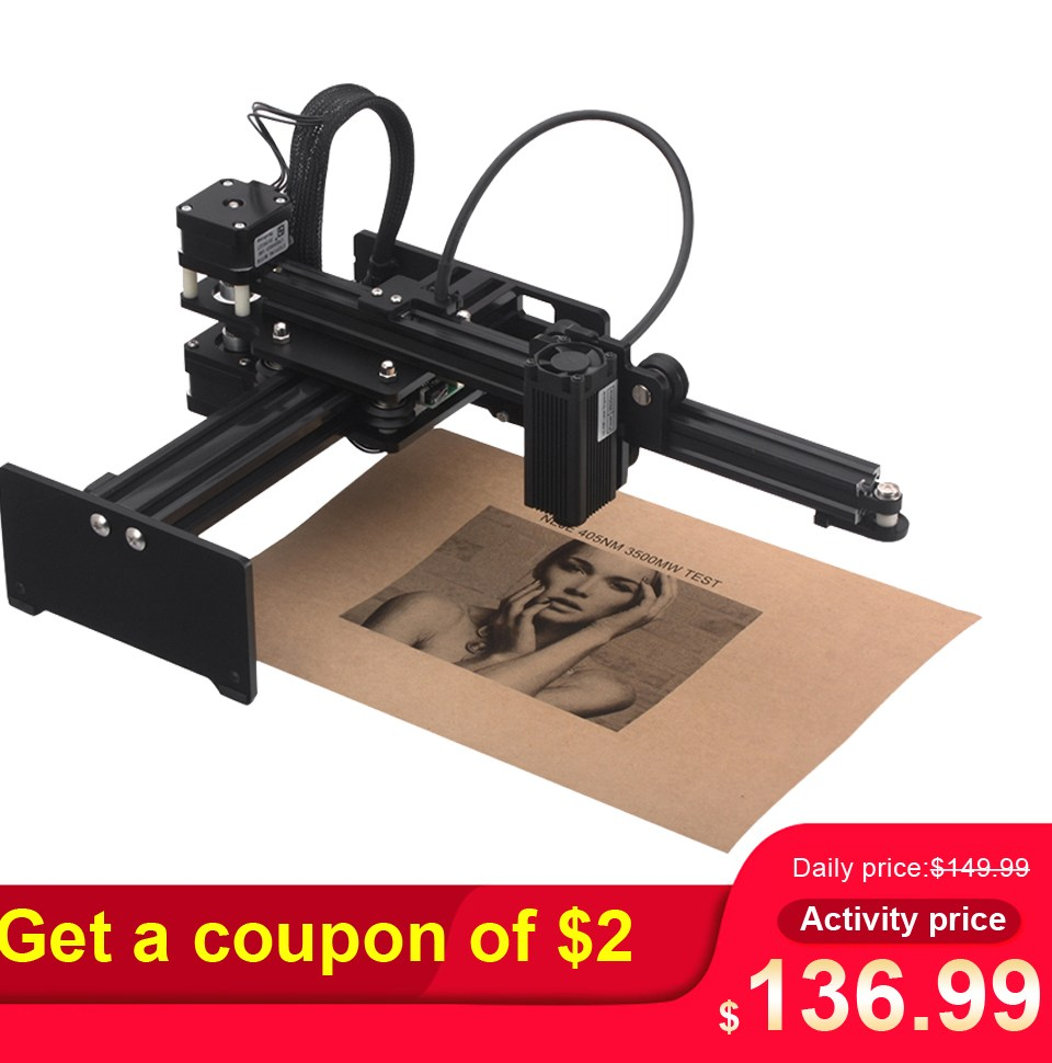 20W 7000mw 3500MW CNC font b Laser b font font b Engraver b font Portable Engraving