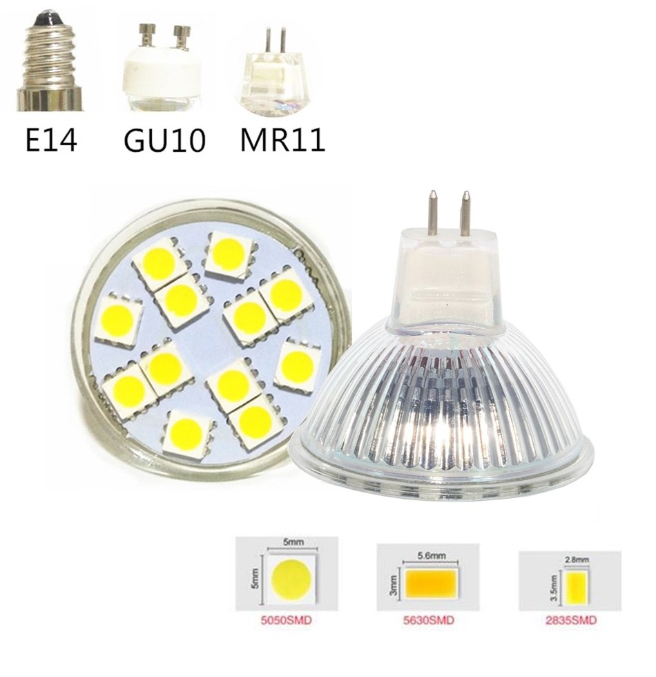 Mini LED Spotlight Bulb font b MR11 b font MR16 Led Lamp 5730 5630 5050 SMD