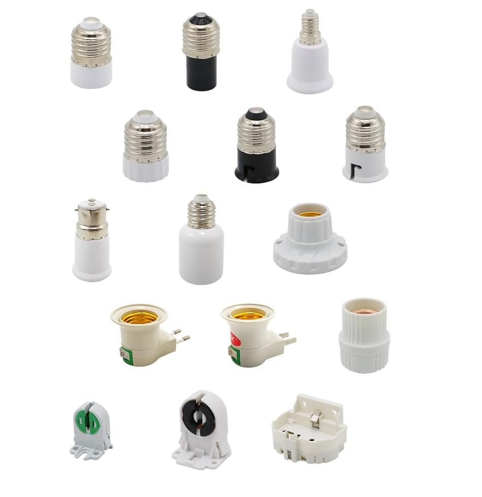 2 Pieces lot E27 E40 font b E14 b font B22 Lamp Holder Converter T5 T8