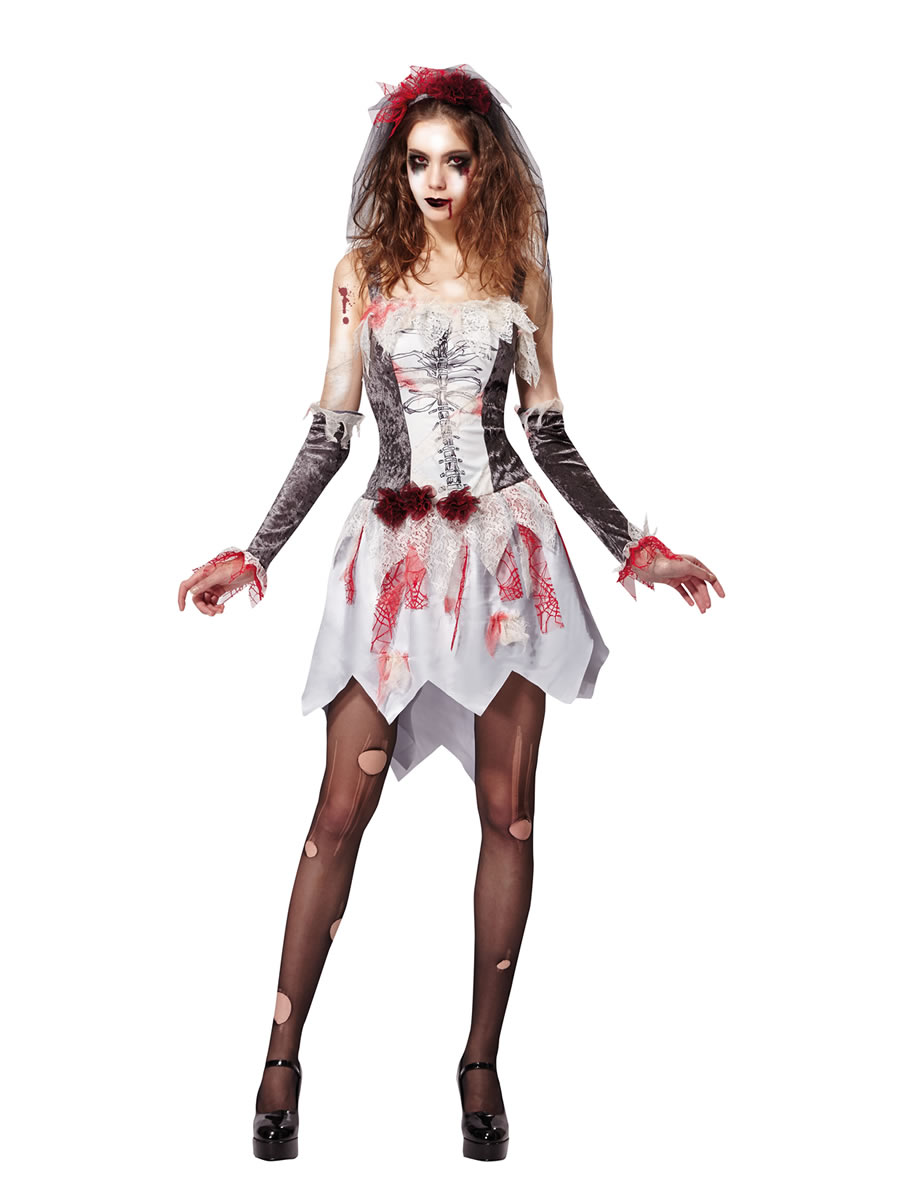 la s skeleton bride costume af027