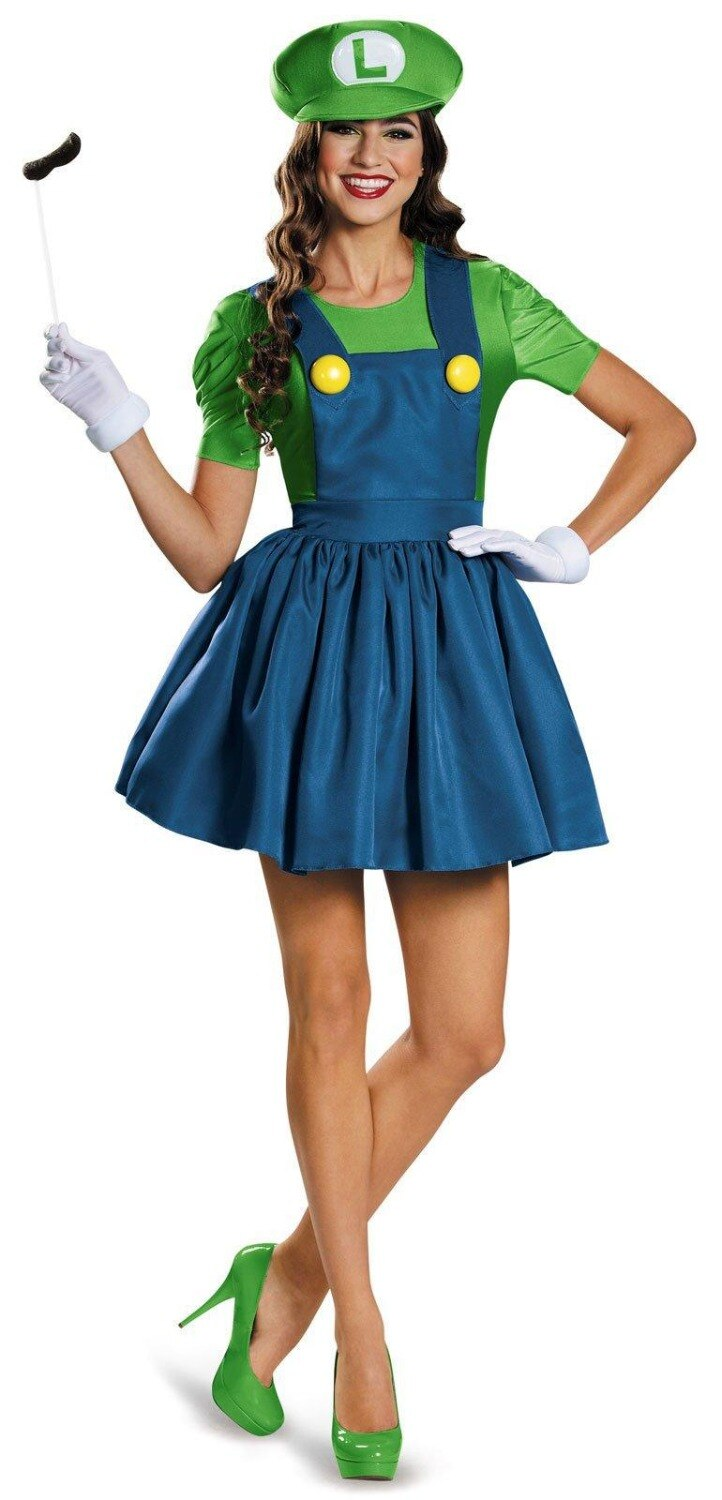 Halloween Super Mario Bros Costume Adults Women Anime Cosplay Super Mario Costume Disfraces Adultos Carnival Costume