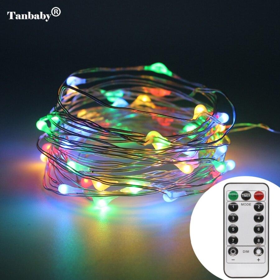 5 mt 50 leds Batterie Power LED String Lichter mit Fernbe nung F r Hochzeit Weihnachten Party