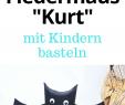 "Halloween Deko Basteln Luxus Fledermaus Basteln Flattermann ""kurt"" Als Halloween Party"