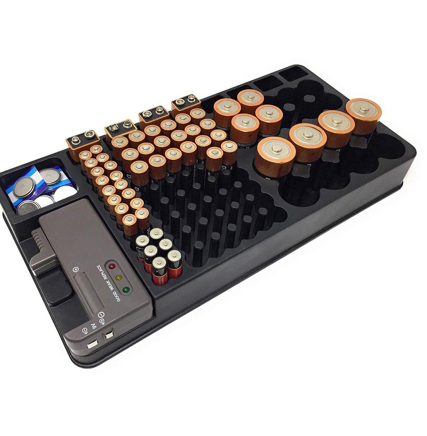 HFES font b Battery b font Storage Organizer Holder w Tester font b Battery b font