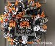 Halloween Deko Genial Black and orange Deco Mesh Wreath is Just Perfect for Your