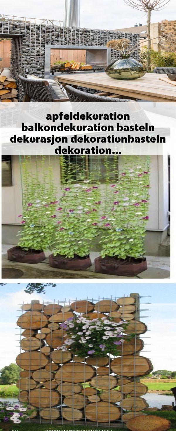 Deko Mauer Im Garten Frisch Apfeldekoration Balkondekoration Basteln Dekorasjon