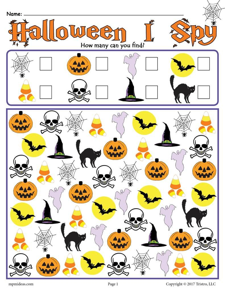 Halloween Kinder Einzigartig Halloween I Spy Printable Halloween Counting Worksheet