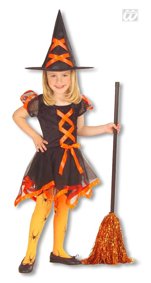 Halloween Kinderkostüme Neu Hexen Kinderkostüm orange