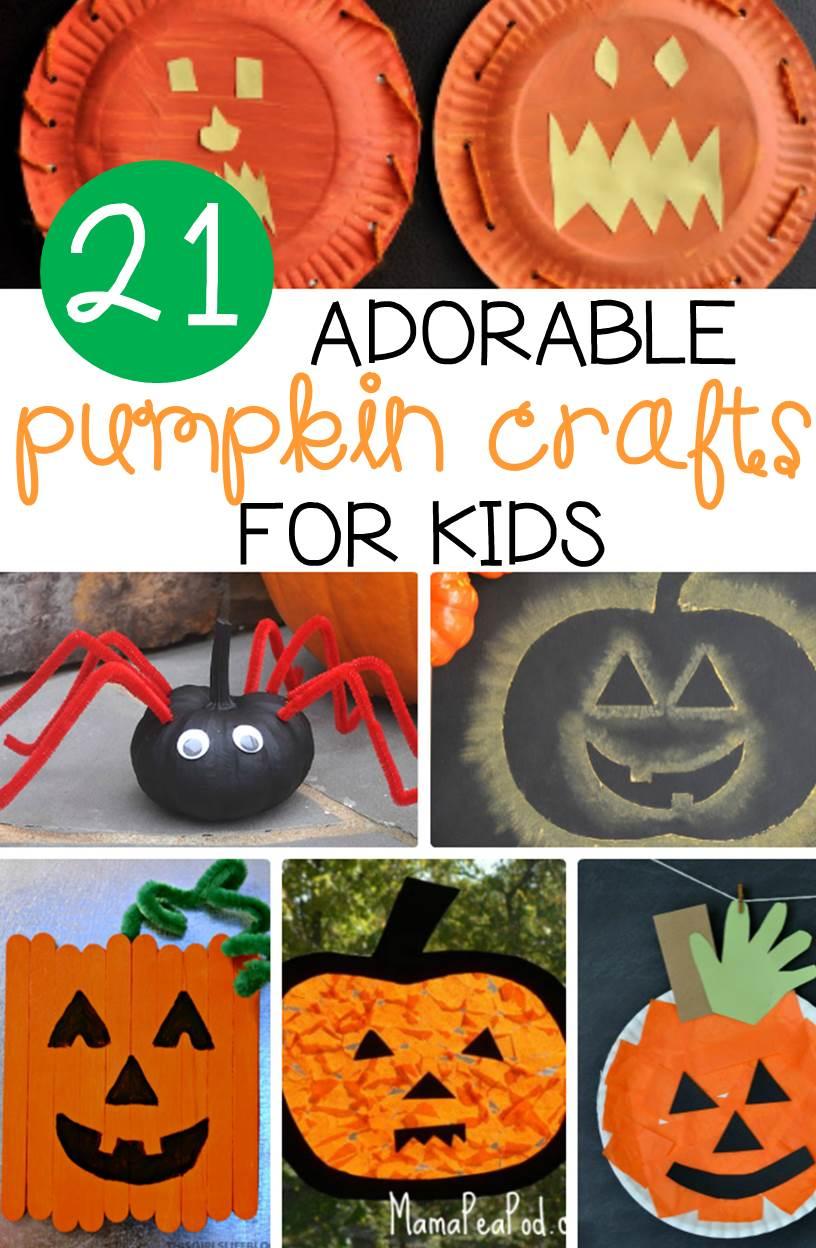 21 Pumpkin crafts for kids