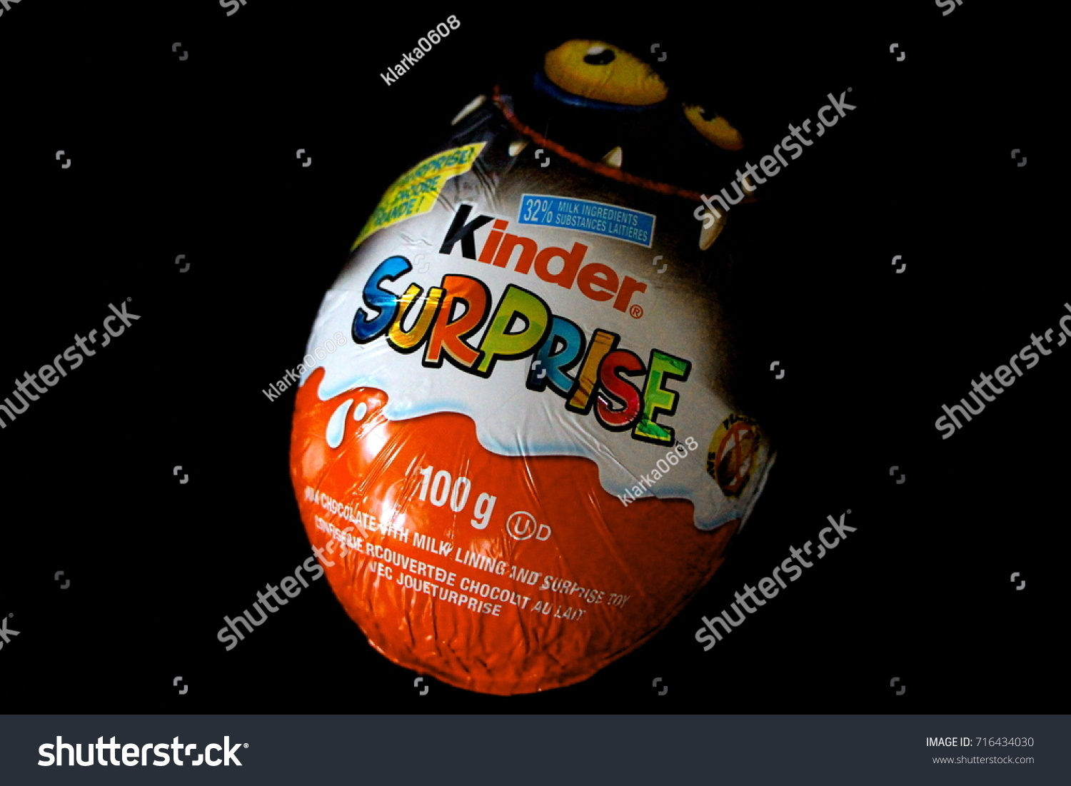 stock photo halloween treat kinder surprise chocolate egg vancouver bc on saturday september