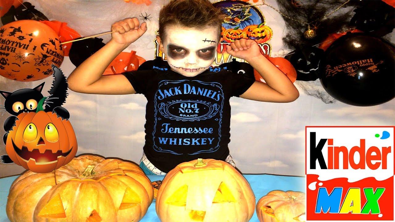Halloween Kinderparty Schön ХЕЛЛОУИН🎃 ЗОМБИ КИНДЕР МАКС ВРРЕЗАЕМ ТРКВРДЛЯ ХЕЛЛОУИНА Carve Pumpkins for Halloween