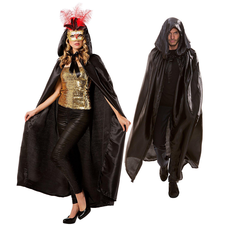 Halloween Klamotten Schön Umhang Vampir Dracula Cape Schwarz 140 Od Kostüm 165 Cm