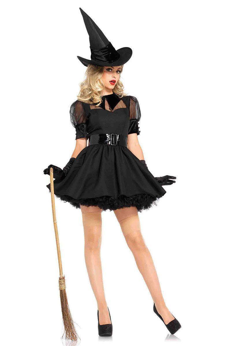 Halloween Kleid Schwarz Elegant Pin Auf Costumes