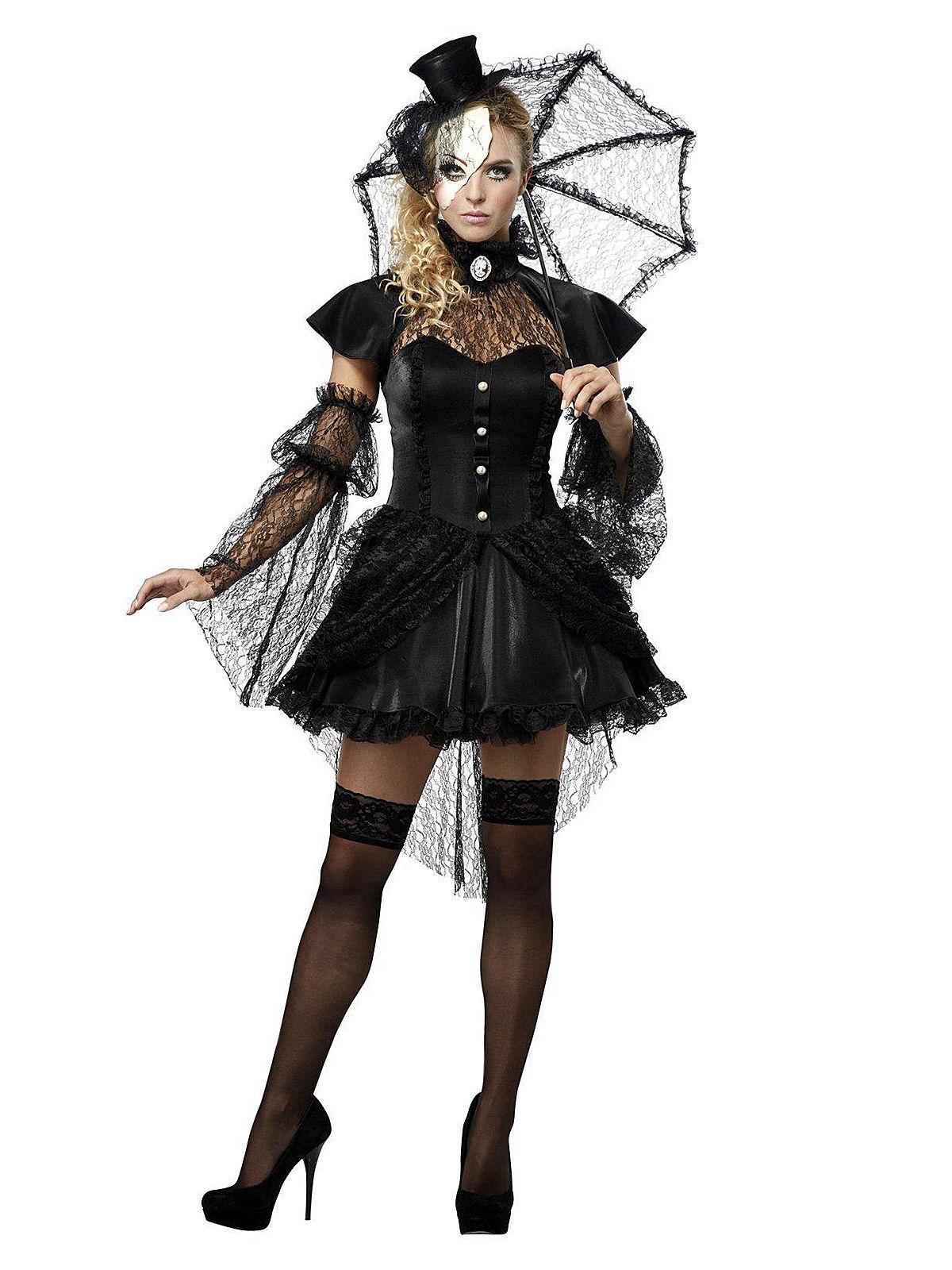 p gothic puppe halloween damen kostuem