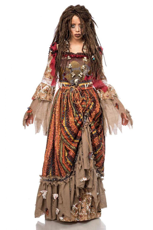 Karneval Halloween Damen Kostuem Hexe Voodoo Calypso