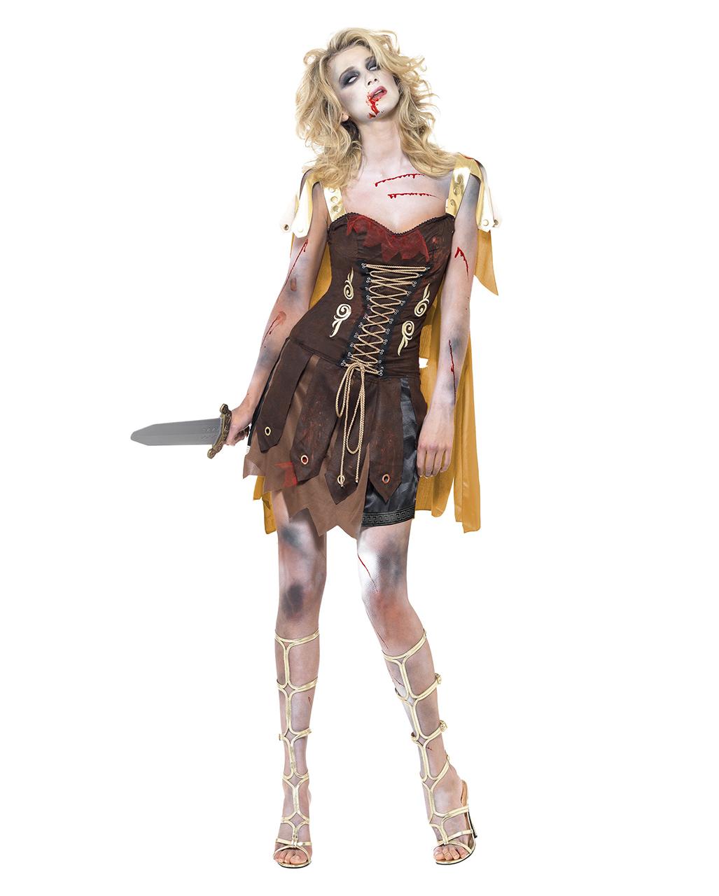 Halloween Kostüm Damen Günstig Inspirierend Gladiator Zombie Kostüm Für Damen Faschings Verkleidung