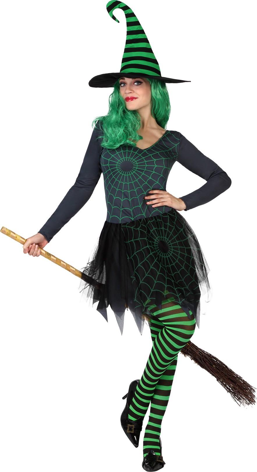 p halloween grunes spinnennetz hexe kostum fur damen type=product