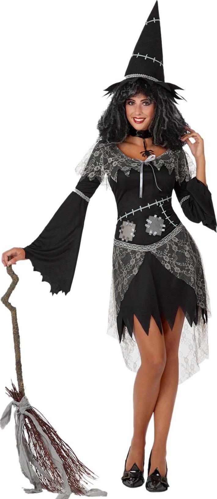 p halloween schwarze und graue hexe kostum fur damen halloween type=product