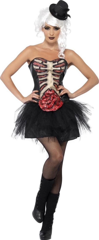 Halloween Kostüm Damen Günstig Schön Halloween Skelett Kostüm Mit Offener Brust Für Damen
