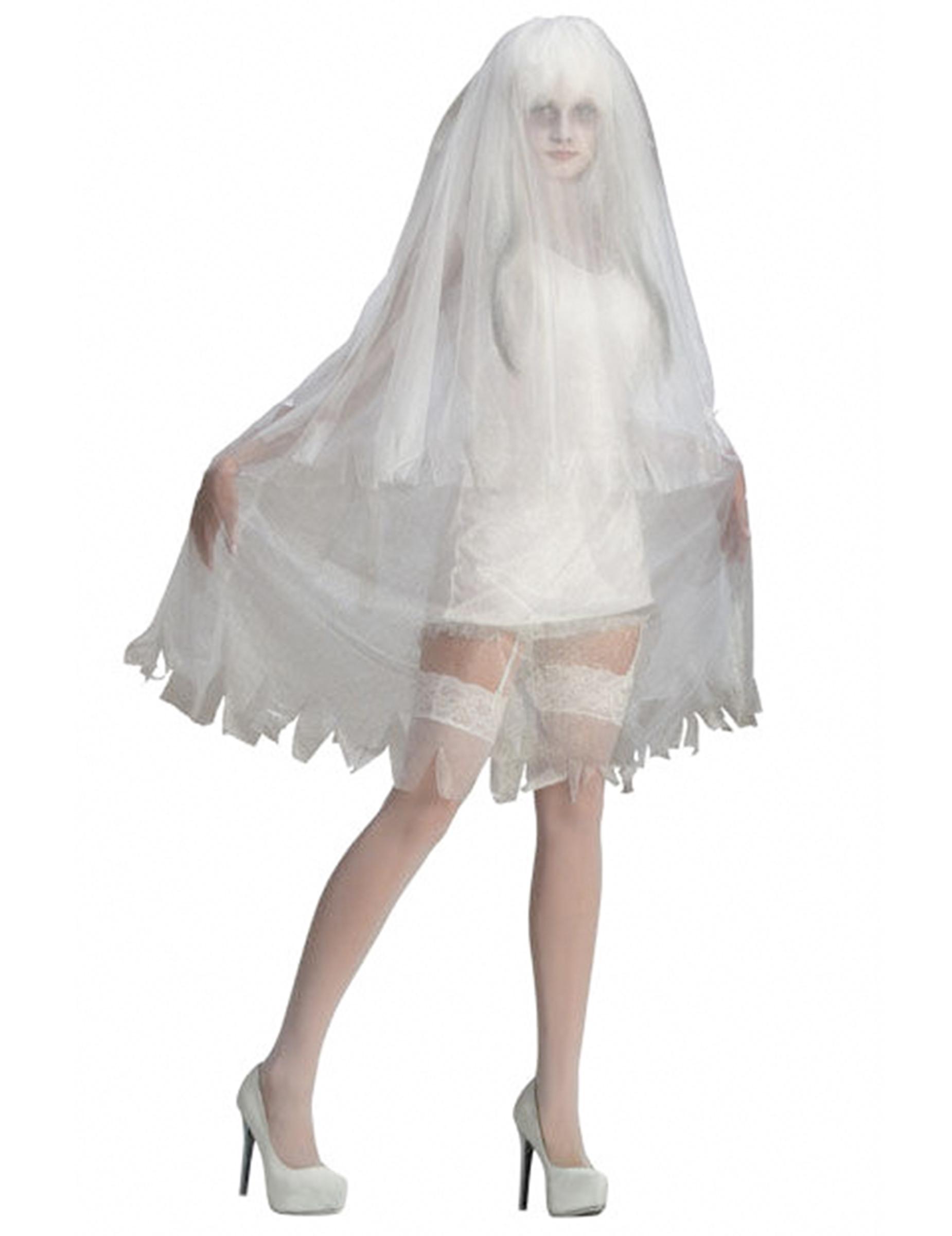 Halloween Kostüm Geisterbraut Elegant Verruchte Geisterbraut Halloween Damenkostüm Weiss