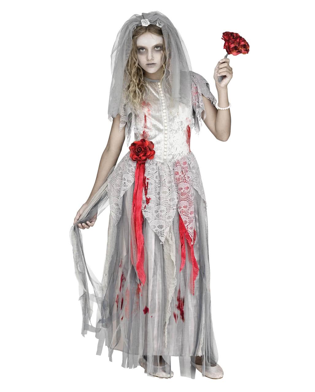 Halloween Kostüm Geisterbraut Elegant Zombie Bride Children Costume Halloween Costume
