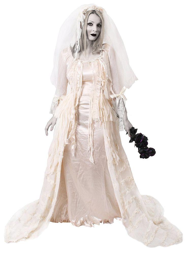 Halloween Kostüm Geisterbraut Neu Deluxe Geisterbraut KostÜm Halloween Ballkleid Weisse Frau