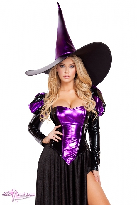 halloween kostuem hexe purple