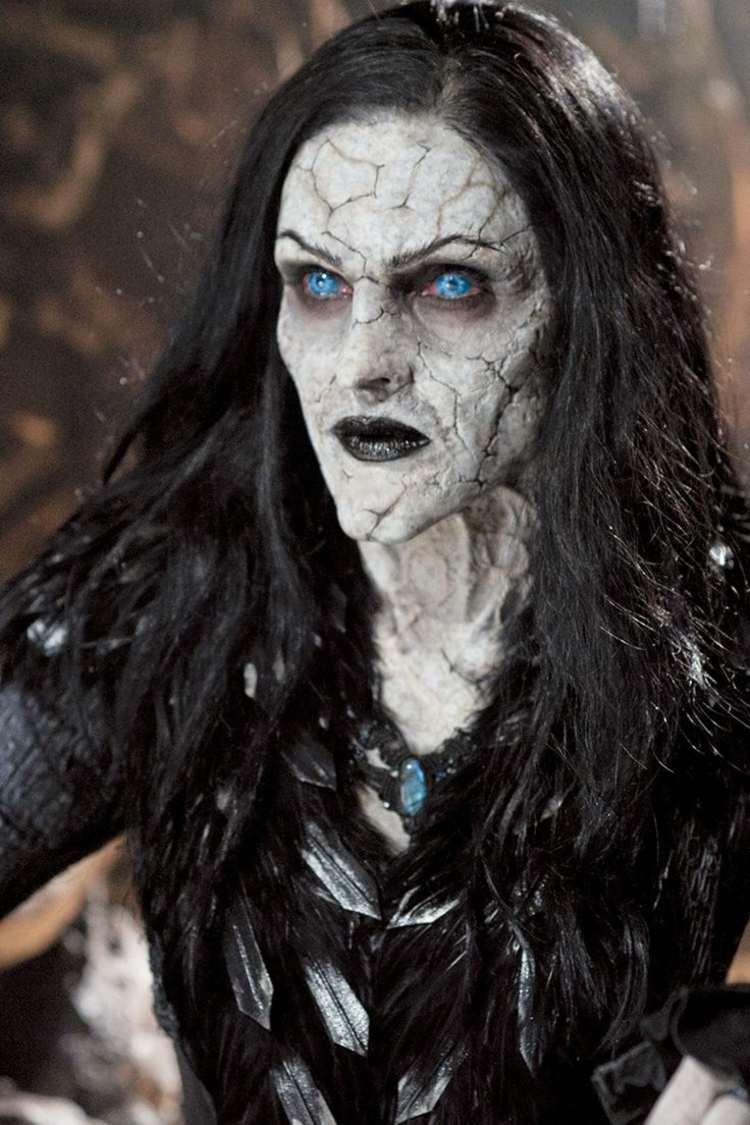 halloween schminke hexen grusel effekt