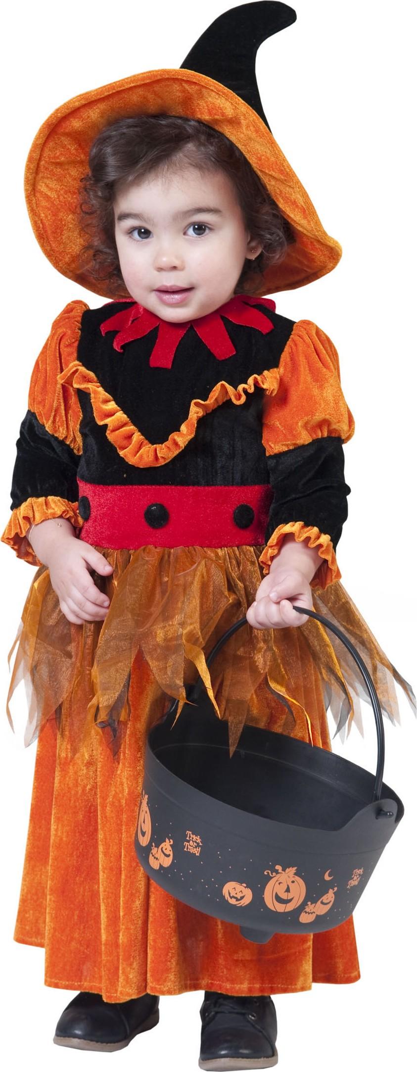 p halloween oranges hexe kostum fur madchen