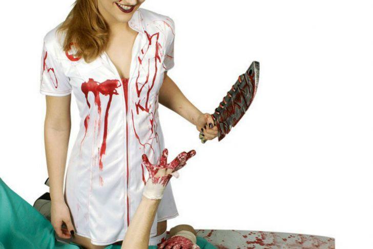 Halloween Kostüm Krankenschwester Elegant Kostüm Blutige Krankenschwester Damen Kleid Horror Zombie