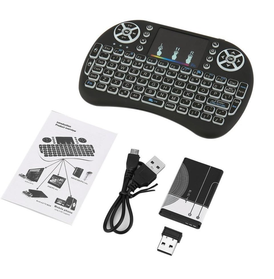 Mini Wireless 2 4GHz Remote Keyboard with Touchpad Mouse for Android TV font b Box b