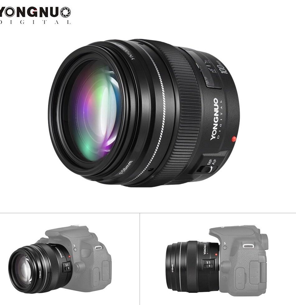 YONGNUO Medium Telephoto Prime Lens font b 100mm b font Fixed Focal Length Aperture F 2