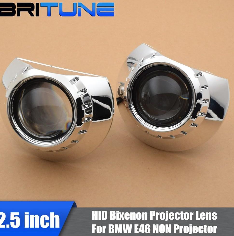 2 5 HID Bi xenon font b Projector b font Lens For font b BMW b