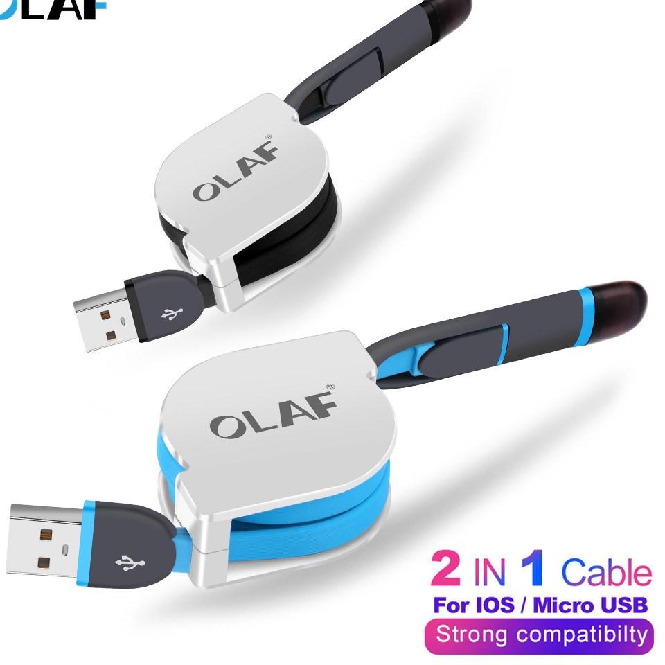font b 2 b font in 1 Micro USB Retractable font b Cable b font