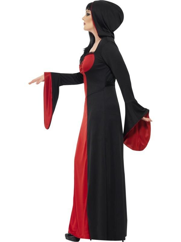 schwarze magie okulte gothic priesterin halloween hexen zauberin kostuem