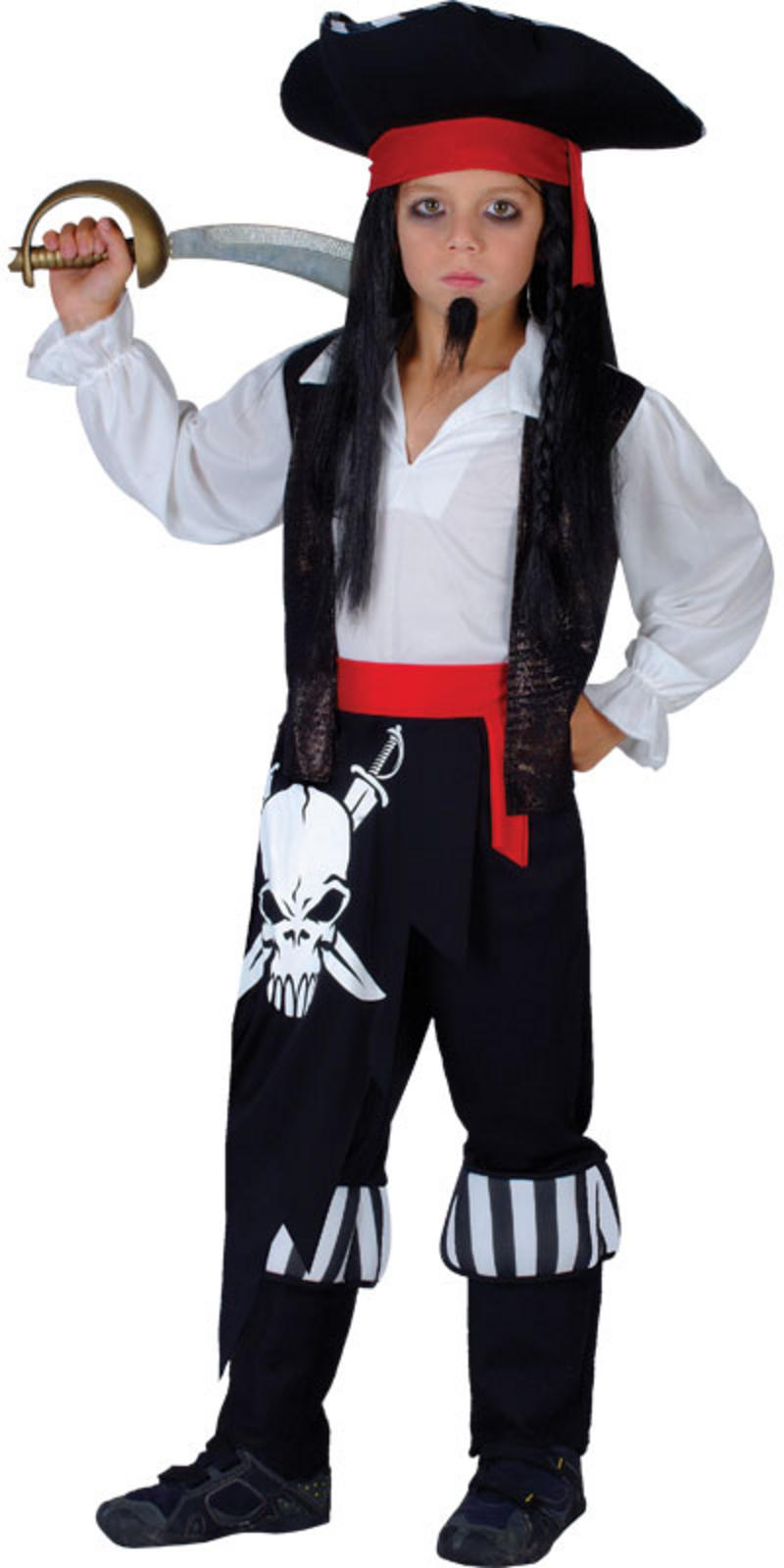 wkdeb 4002 s de captain blackheart pirate boys fancy dress costume s