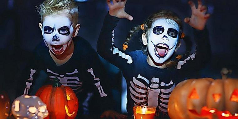 Halloween Schminken fuer Kinder Die besten Make up Ideen fuer Kinderparty