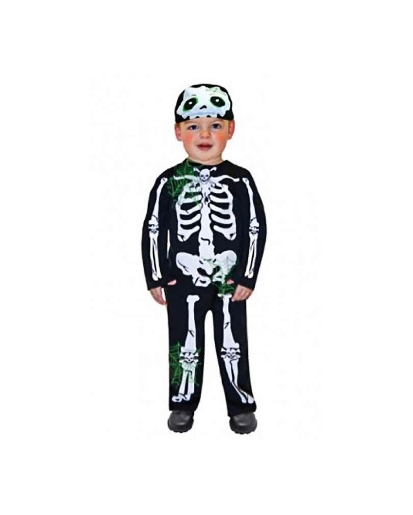 skelett kleinkinder kostuem halloween