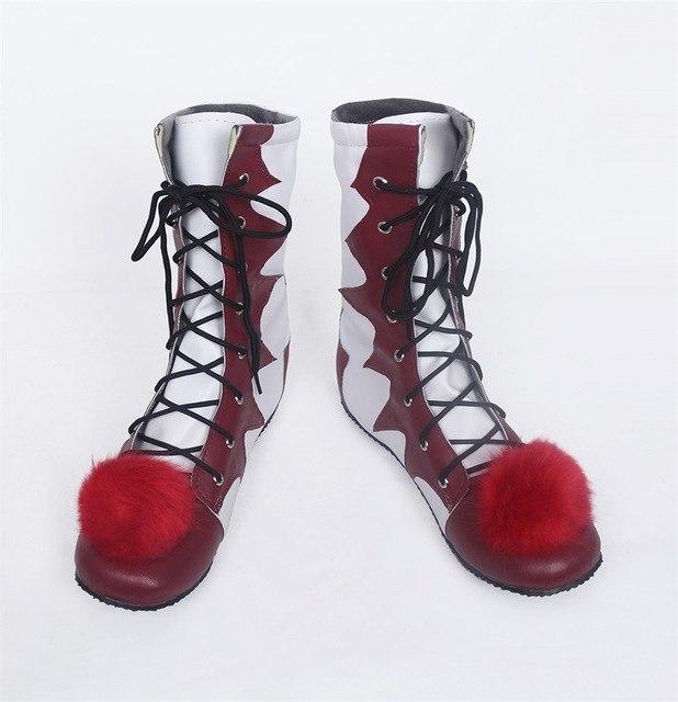 white red Stephen könig der es pennywise Clown pennywise clown Halloween kostüm Männer Frauen cosplay anime Kostüme Stiefel Schuhe Nach Maß ZA1214 Polyester Nylon Spandex Ti2Sn0Zj6Af8 p 4577