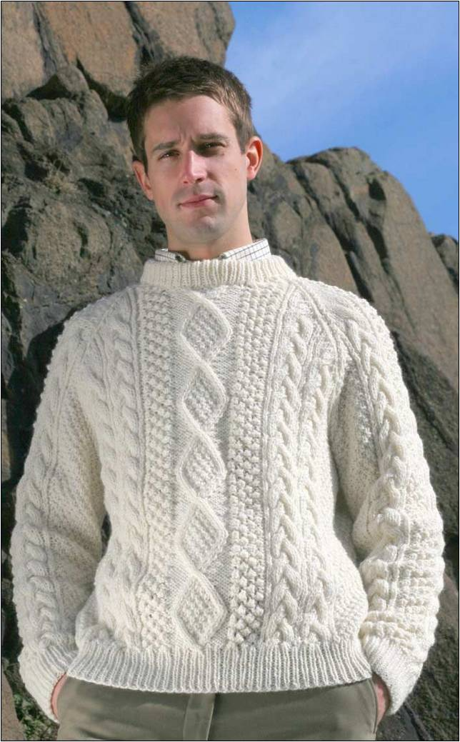 aran pullover herren stricken