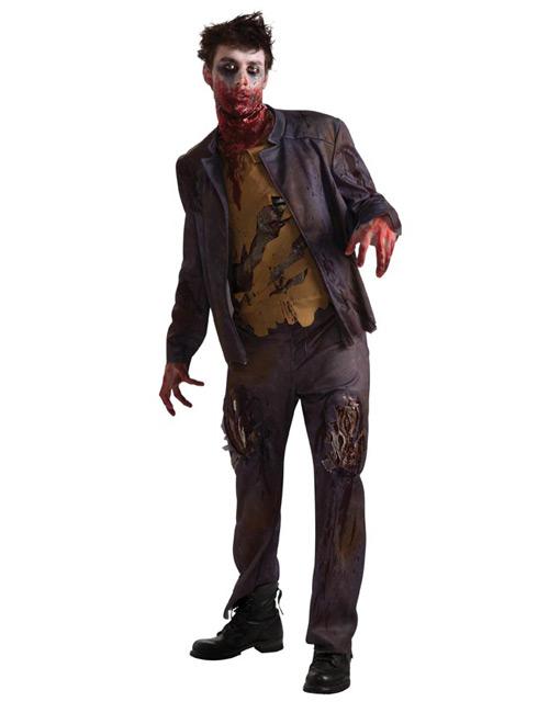 zombie halloween kostuem schwarz khaki