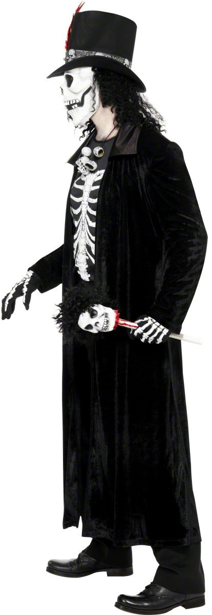 p hexen meister halloween kostuem fuer herren schwarz weiss