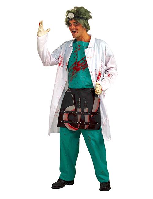 horror doktor halloween kostuem gruen weiss