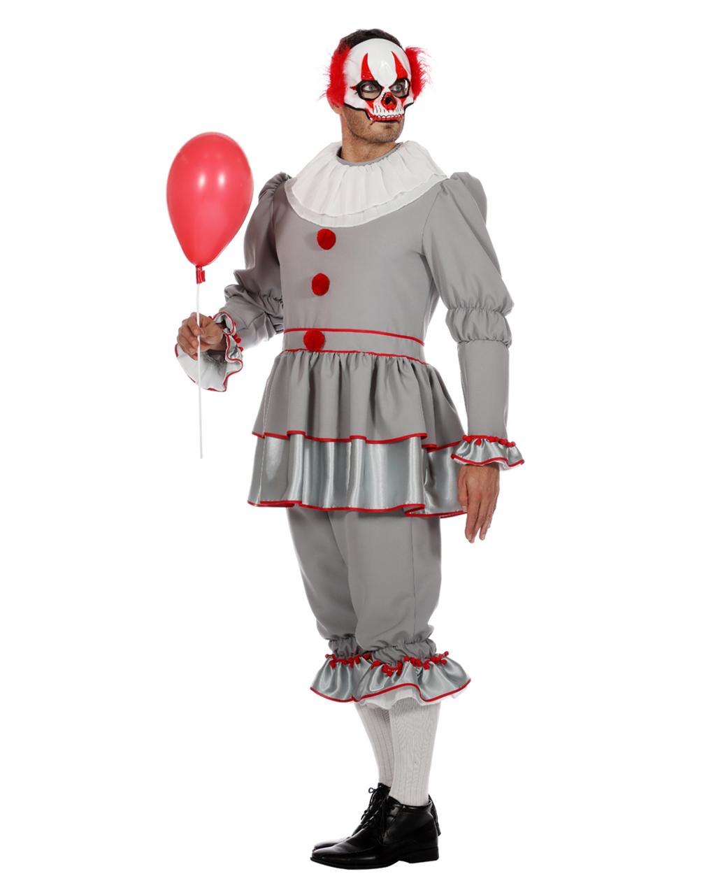 horror clown herren kostuem