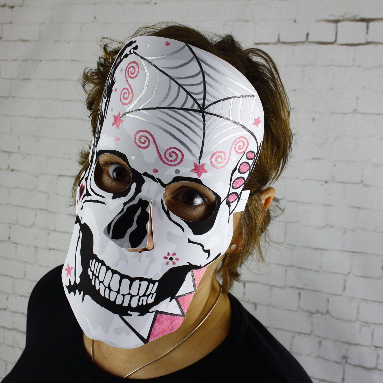 Halloween Maske Best Of Spooky Skull Mask Day Of the Dead Sugar Skull Halloween