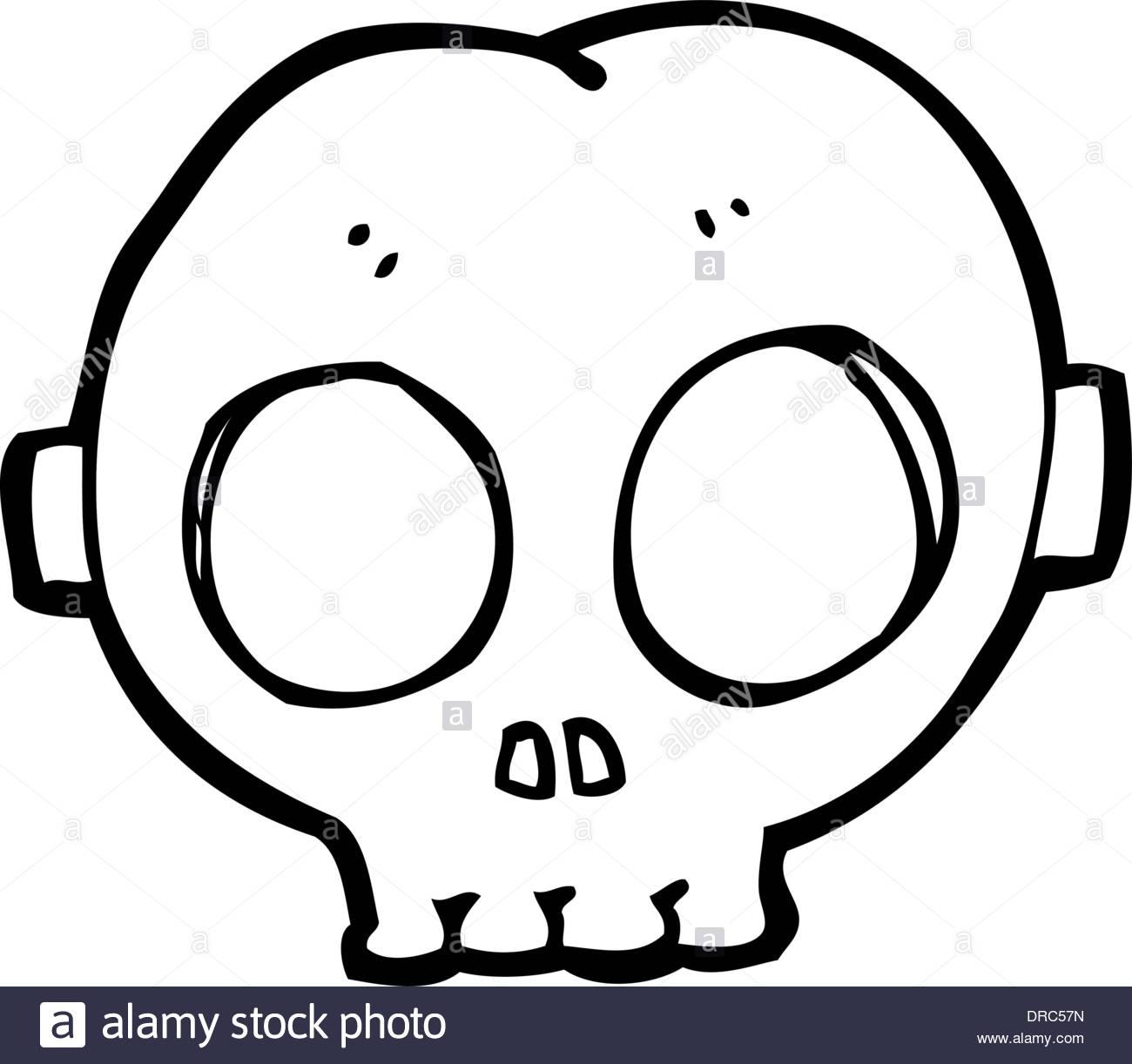 cartoon halloween skull mask DRC57N