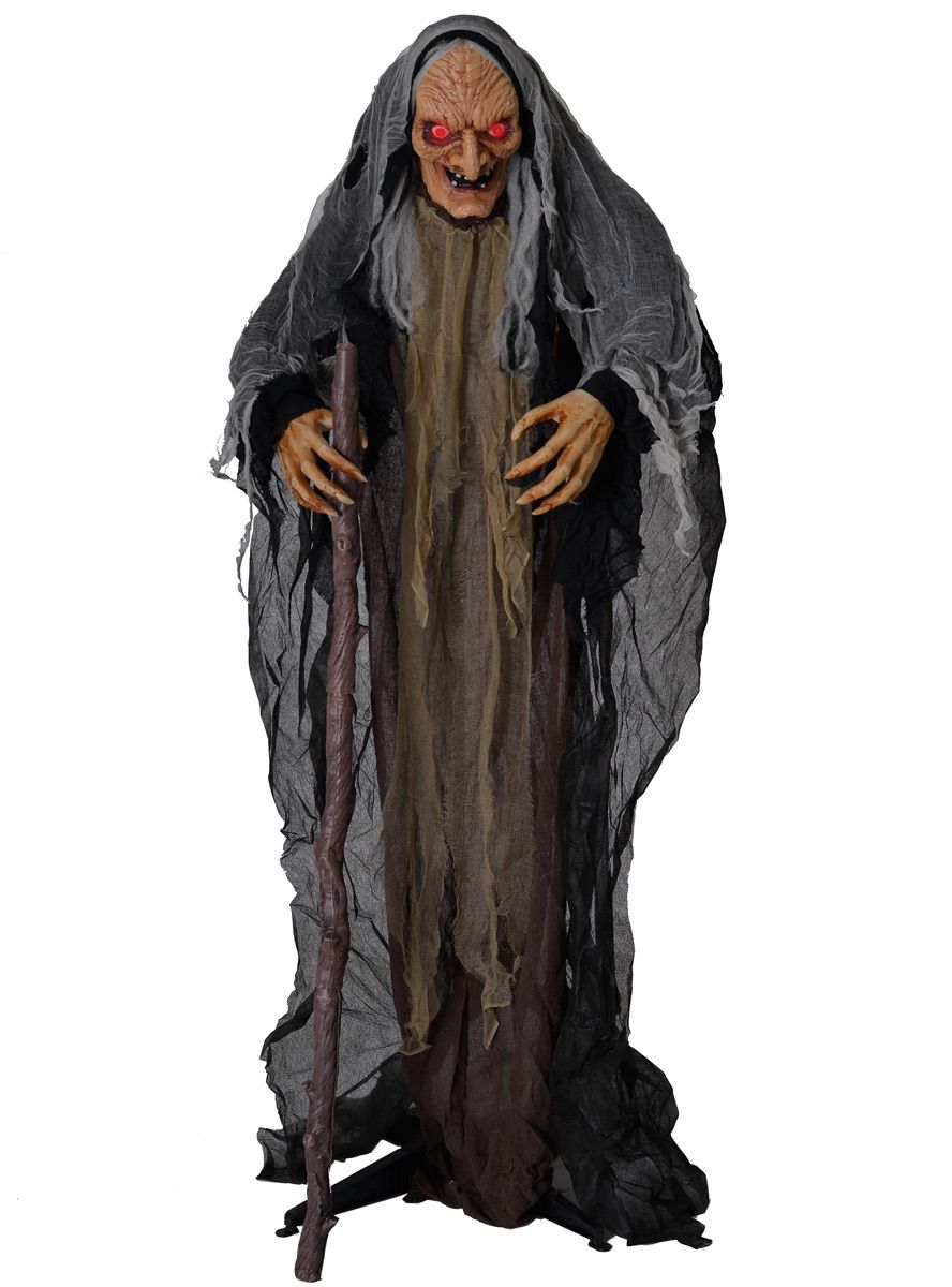 oc a od hag wicked witch 165cm animated standing halloween prop decoration eyes lights on 1200