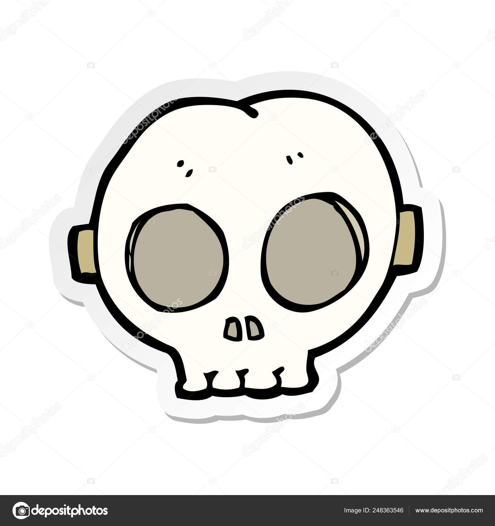 depositphotos stock illustration sticker cartoon halloween skull mask
