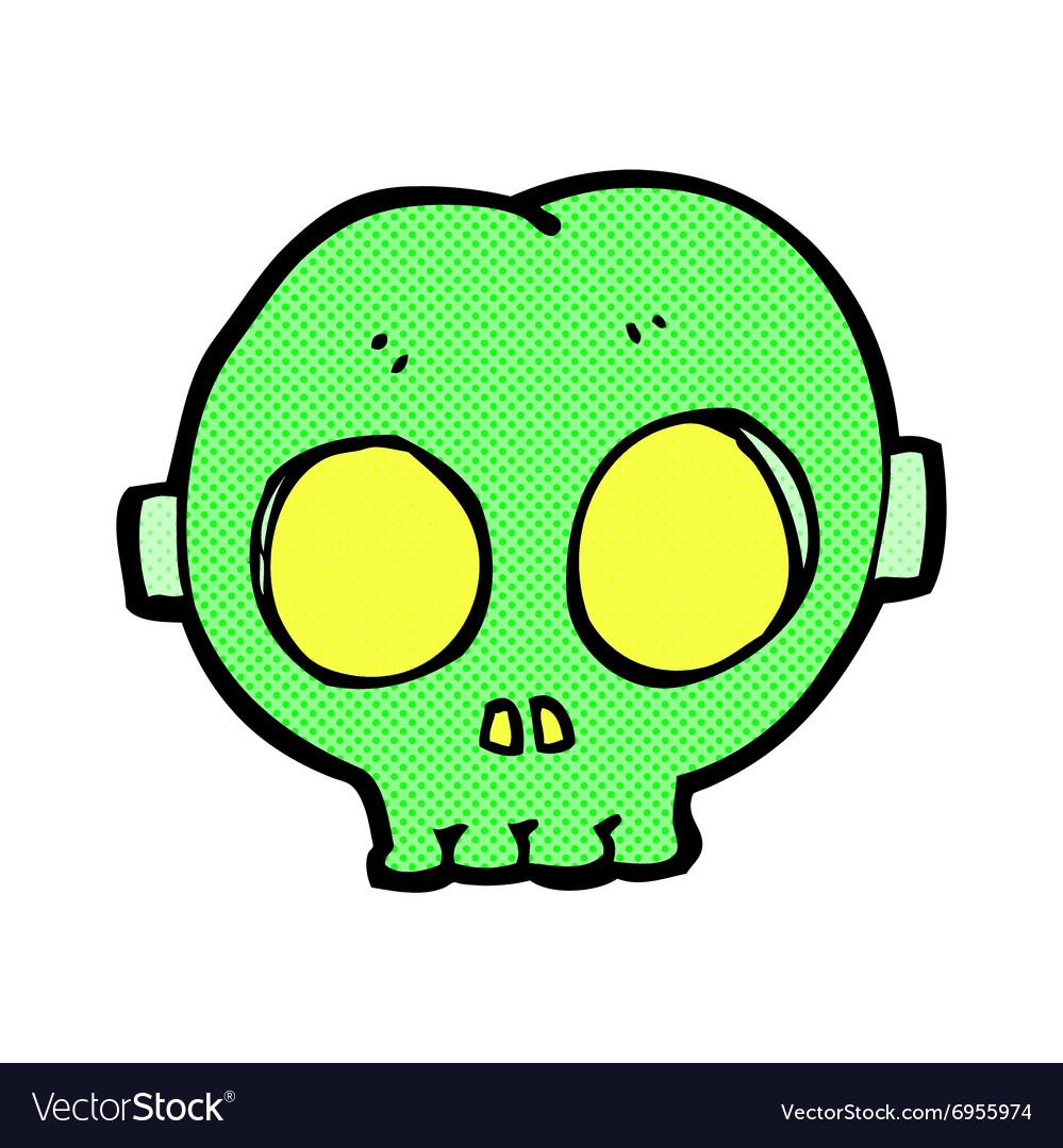 ic cartoon halloween skull mask vector