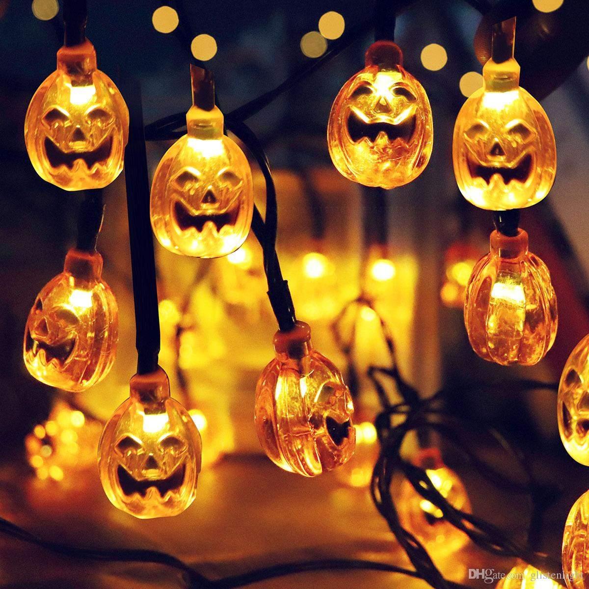 garten licht frisch groshandel 30 led sonnenenergie schnur lichter led fee licht fur partei kurbis grimasse halloween garten landschaft ausendekoration von glistenlight of garten licht